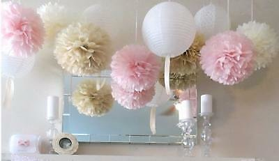 10 Pcs Tissue Paper Pompoms Pom Poms Hanging Garland Wedding Party Decoration