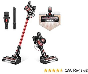 Cordless Vacuum Cleaner, Max Power 80AW Electric Broom H12 Level Advanced Filtering System 4 in 1 Stick Vacuum for Home Hard Floor Car Pet Hair Lightweight T185 - TOCMOC