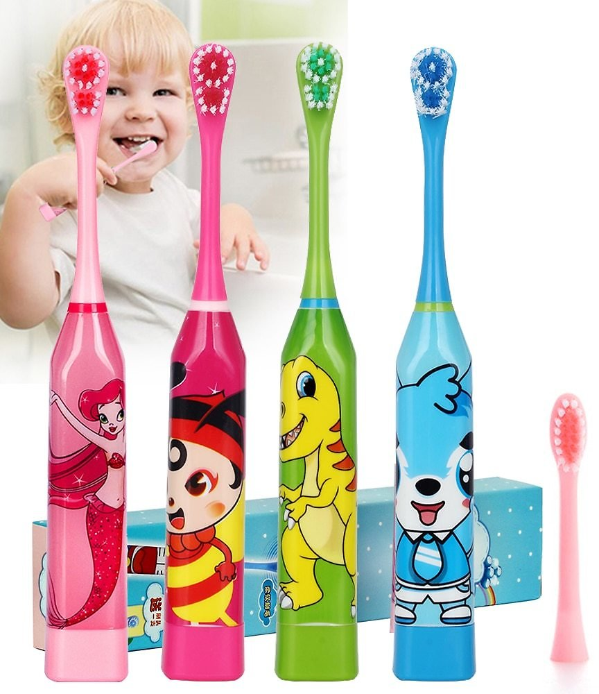 US $3.77 |Cartoon Pattern Children Electric Toothbrush Double Sided Tooth Brush Heads Electric Teeth Brush Or Replacement Brush Heads Kids|children Electric Toothbrush|electric Teeth Brushelectric Teeth - AliExpress