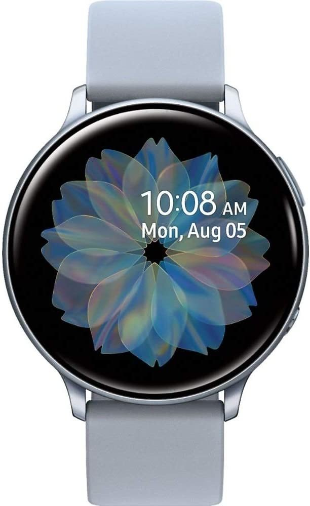 Samsung Galaxy Watch Active2 (Silicon Strap + Aluminum Bezel) Bluetooth - International (Cloud Silver, R830-40mm)