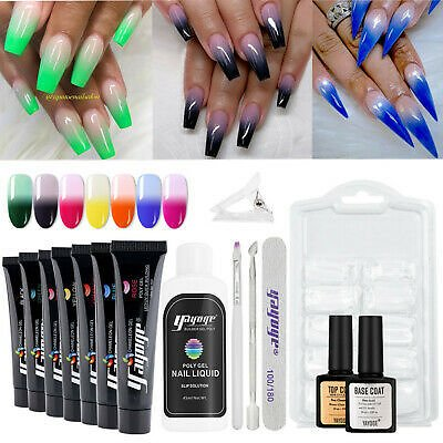 15PCS Fast Poly GEL Set Extension UV Gel Constriction Enhancement US SHIPPING