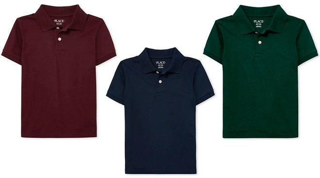Children's Place Uniform Polo Up to 50% Off Starting From ONLY $4.97 – Many Styles!