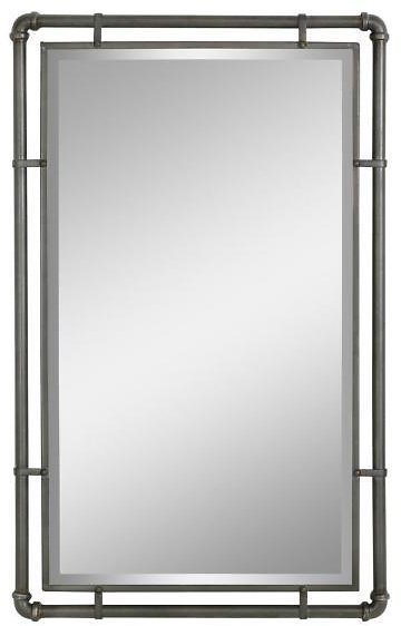 Aspire Home Accents Morse Industrial Metal Wall Mirror
