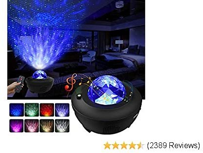 Bell Night Light ProjectorGalaxy Projector Star Projector W/LED /Home Theatre/Night Light Ambiance with Bluetooth Music