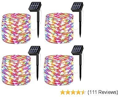 Solar Fairy Lights, 4 Pack