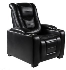 Myles Power Theater Recliner with Adjustable Headrest, Black - Sam's Club
