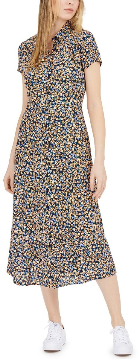 Calvin Klein Jeans Printed Shirtdress (2 Colors)