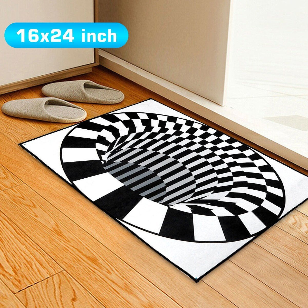 TSV-3D-Bottomless-Hole-Carpet-Mat-Rug-40x60cm-15-7x23-6in-Anti-Skid-Stain-resistant-Home-Bedroom-Offi