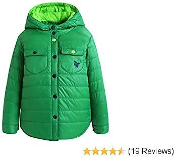 Little Boys Girls Winter Down Coat, Toddler Kids Thickened Skiing Snow Jacket With Hood Packets Outwear Clothes