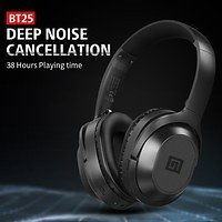 Langsdom BT25 Active Noise Cancelling Over-ear Wireless Bluetooth 4.2 Stereo Headphones Sport Deep Bass Hi-Fi Music Headset with Mic   Wish