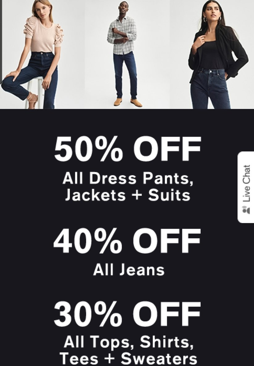 30-50% Off Select Styles - Express