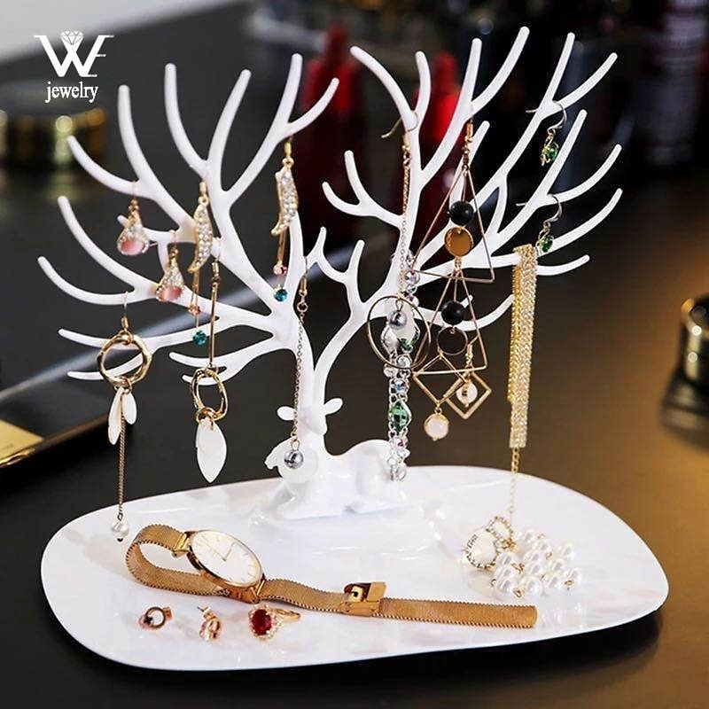 US $4.27 |WE Black White Pink Rose Red Deer Earrings Necklace Ring Pendant Bracelet Jewelry Cases&Display Stand Tray Tree Storage Jewelry|Jewelry Packaging & Display| - AliExpress