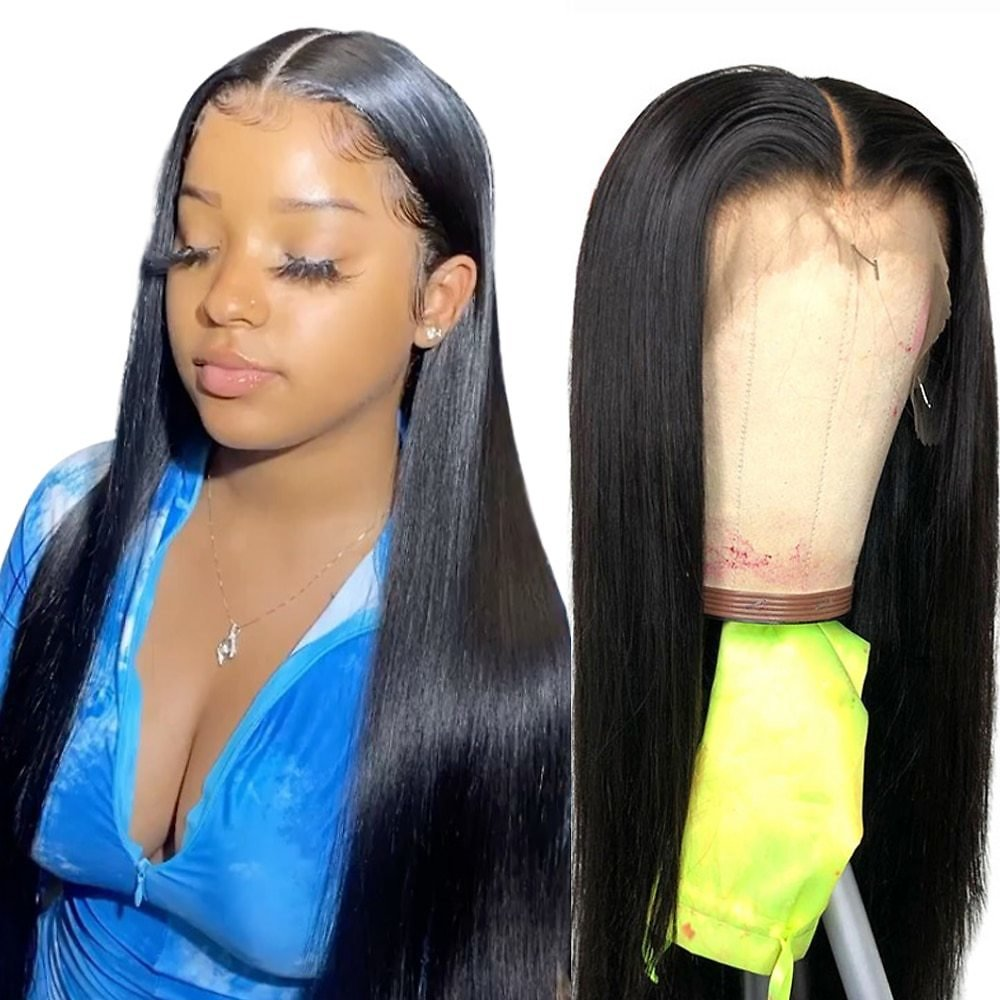 Brazilian 4*4 13*4 360 Lace Frontal Wig Lace Front Human Hair Wigs 360 Lace Frontal Human Hair Wigs Baby Hair Women
