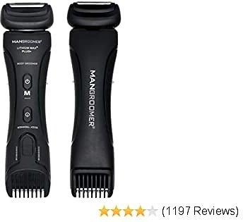 MANGROOMER - Lithium Max Plus+ Body Groomer, Ball Groomer & Body Trimmer With Free Bonus Foil Included! Private Groomer, Groin, Body Shaver (Generation 7.0)
