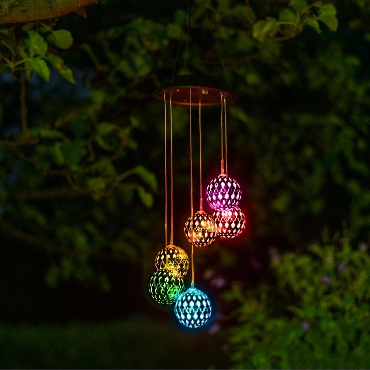 Color Changing LED Solar Wind Chime