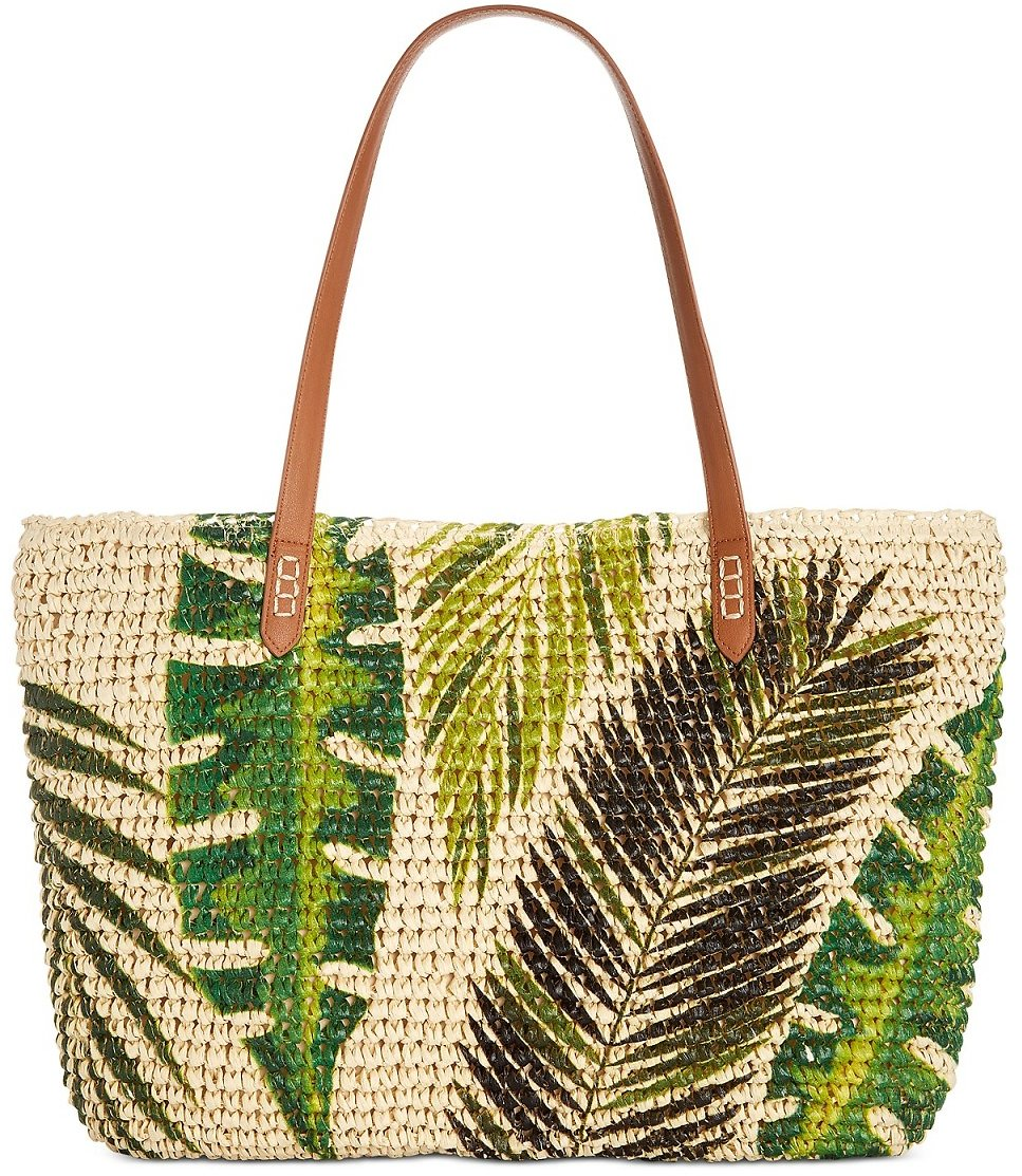 INC Tropical Straw Tote