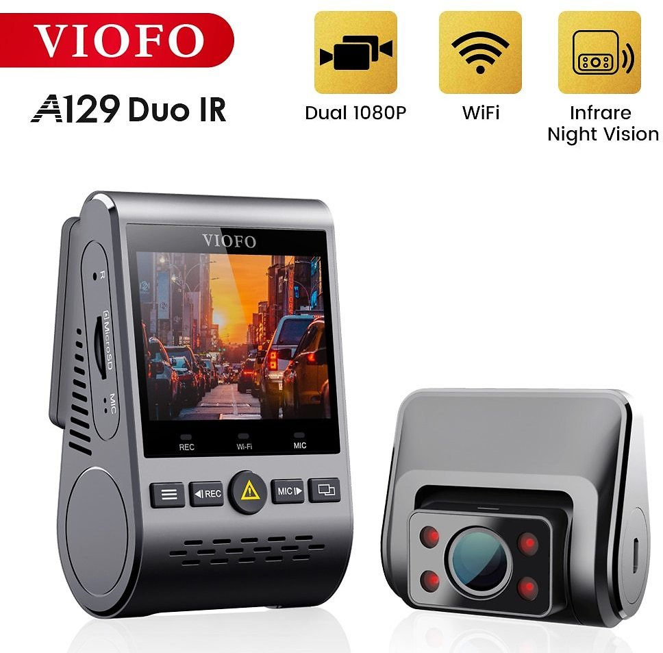 US $159.37 25% OFF|VIOFO A129 Duo IR Front And Interior Dual Dash Cam 5GHz Wi Fi Full HD 1080P Buffered Parking Mode For Uber Taxi|DVR/Dash Camera| - AliExpress