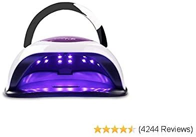 BELLANAILS Professional LED Nail Lamp For Home or Salon Use, 3x Faster Than Traditional UV Nail Dryers, 4 Time Presets, 120 W