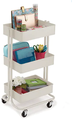 Almond Lexington 3-Tier Rolling Cart By Recollections™