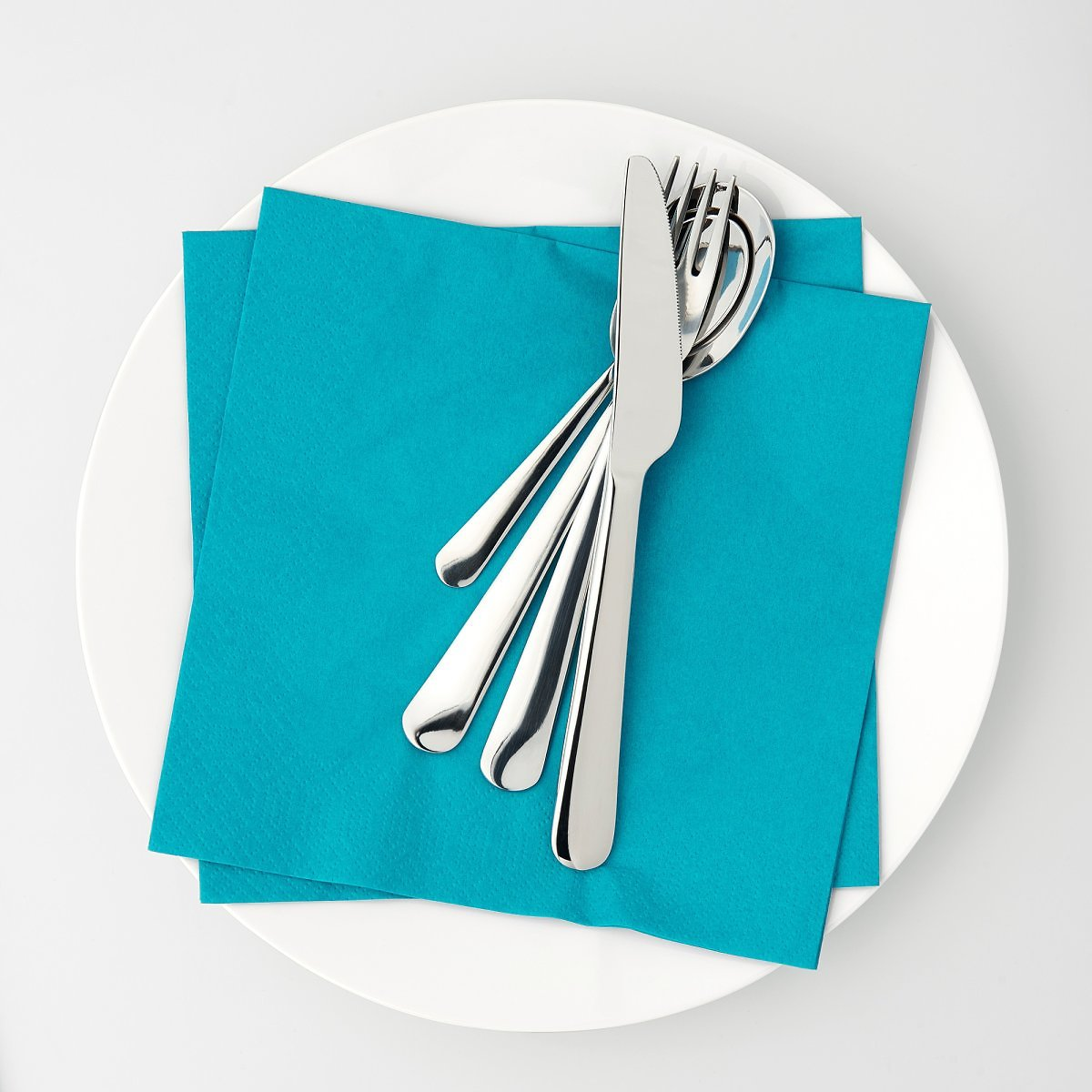 50 Pack Paper Napkin, Turquoise15 ¾x15 ¾