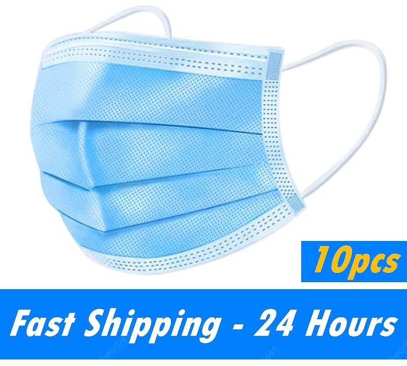 3-Layer Disposable Face Mask Anti-Pollution Safety Dust Filter Non-woven Meltblown Masks Non-Medical Sale, Price & Reviews   Gearbest