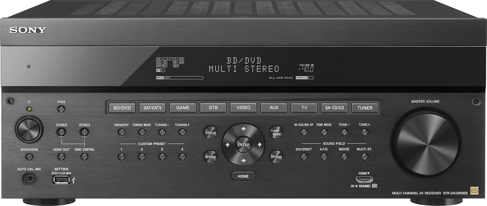 Sony STR-ZA5000ES 9.2-channel Home Theater Receiver with Dolby Atmos® At Crutchfield