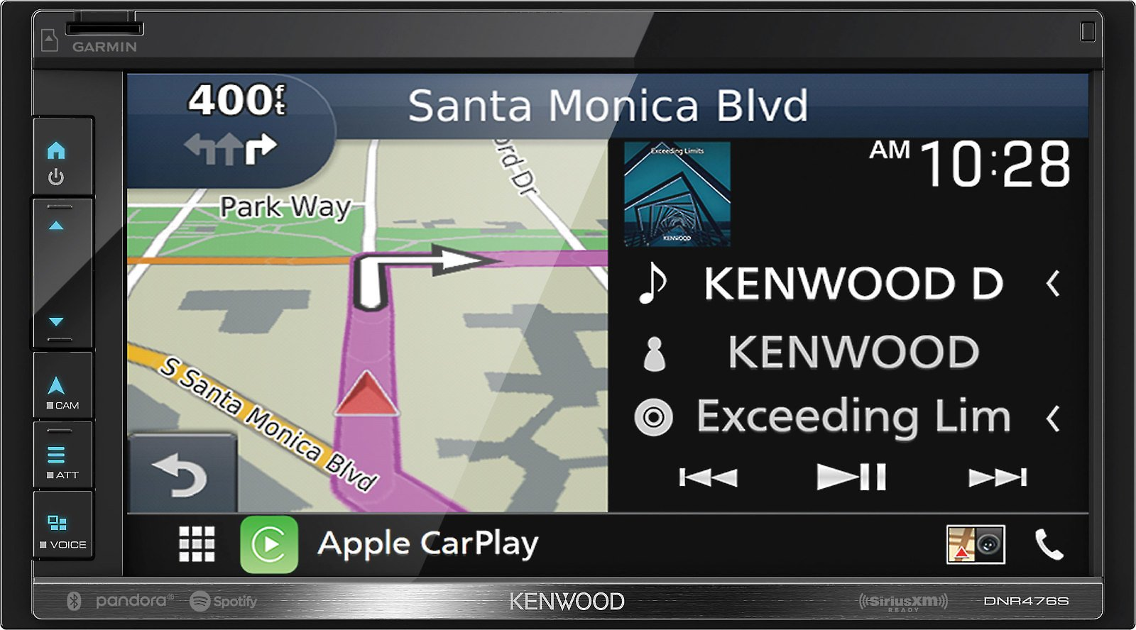 Kenwood DNR476S Digital Multimedia Navigation Receiver (does Not Play Discs) At Crutchfield