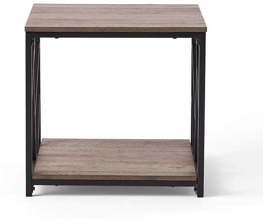 Thicket Industrial Modern Coffee Table By Christopher Knight Home - Antique Oak Finish + Black Finish