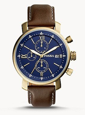 Rhett Chronograph Brown Leather Watch - BQ2099 - Fossil
