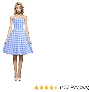 1950s 60s Vintage Rockabilly Casual Party Dress