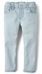 Baby And Toddler Girls Basic Skinny Jeans - Sky Wash