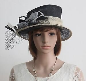 New Sinamay Woman Church Kentucky Derby Wedding Cocktail Party Dress Hat 174573