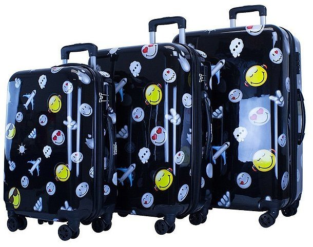 3 Set of Spinner Luggage Set Happy Travels