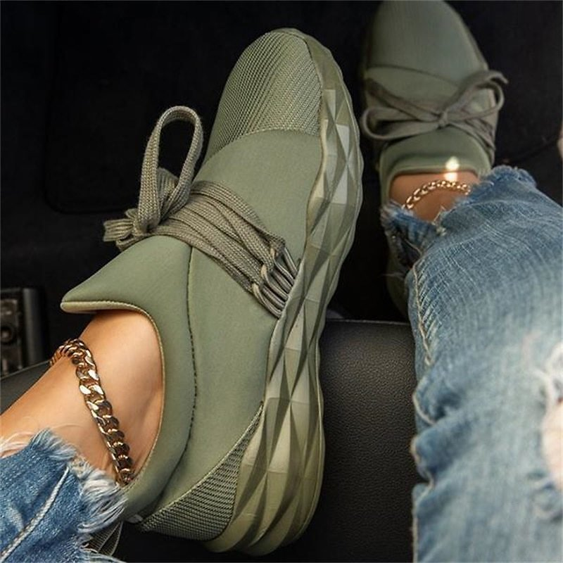 Women Summer Sneaker Lace Up Ladies Walking Running Shoes Round Toe Casual Breathable Non Slip Gym Sport Shoes for Female