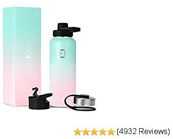 IRON °FLASK Sports Water Bottle - 32oz, 3 Lids (Spout Lid), Vacuum Insulated Stainless Steel, Hot Cold, Modern Double Walled, Simple Thermo Mug, Hydro Metal Canteen