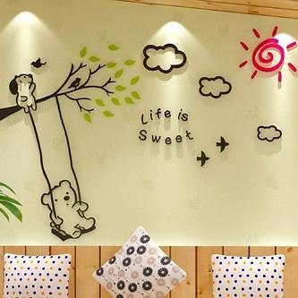 Great Discount New Kids Bedroom Plane Cute Wall Stickers Home . Free ShippingDecor