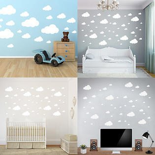 3 Colors Wall Decor Stickers Cloud Wall Stickers Children Bedroom Nursery Wall Decal Home Decoration
