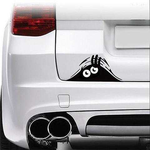 Peeking Monster Scary Eyes Waterproof Self-Adhesive Vinyl Car Decal Sticker for Laptop Ipad Window Wall Truck Motorcycle