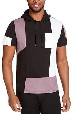 INC International Concepts INC Men's Pieced Short-Sleeve Hoodie, Created for Macy's & Reviews - T-Shirts - Men