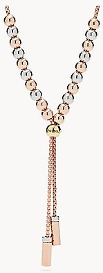 Duo Bar Rose Gold-Tone Brass Y-Necklace