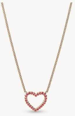 To The Heart Fuchsia Stainless Steel Pendant Necklace