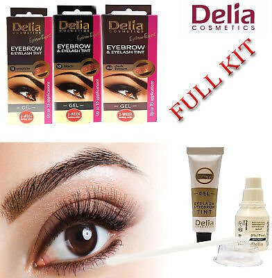 Delia Cosmetics Dye Eyelash and Eyebrow Professional Tint Lash Tinting Kit Color