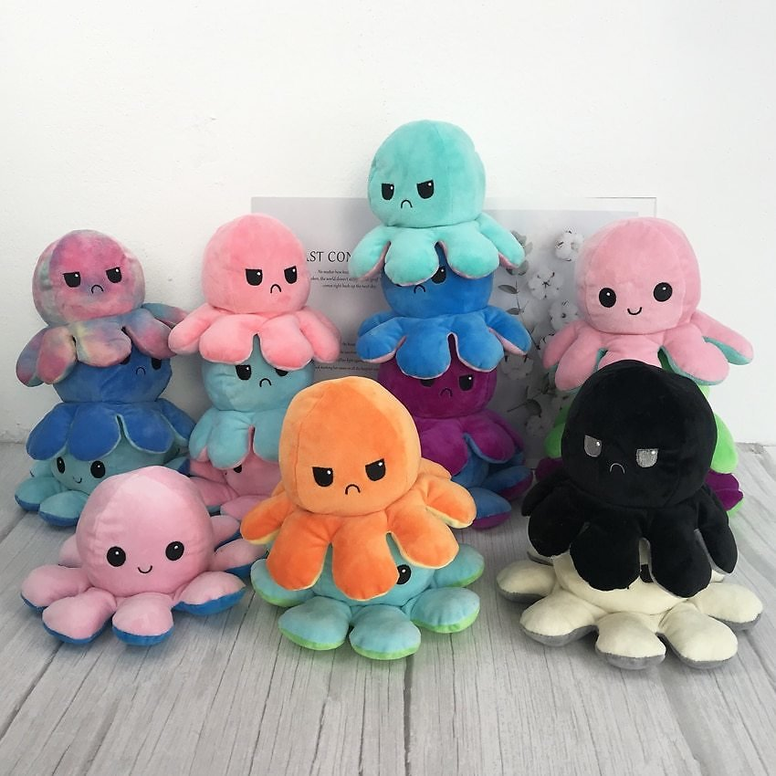 US $1.52 39% OFF|Reversible Flip Octopus Plush Stuffed Toy Soft Animal Home Accessories Cute Animal Doll Children Gifts Baby Companion Plush Toy|Movies & TV| - AliExpress