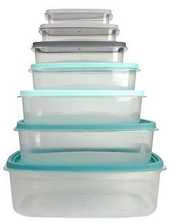 14 Piece Home Basics HDS Trading Food Storage Container Set with Secure Fit Lids