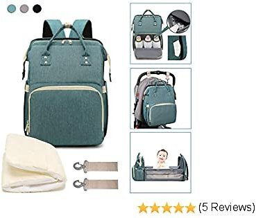 3 in 1 Travel Bassinet Baby Foldable Diaper Changing Station Backpack
