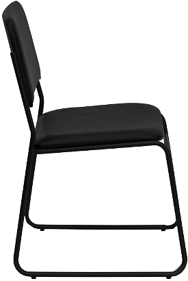Hercules Vinyl Stacking Chair with Sled Base - Black - Sam's Club