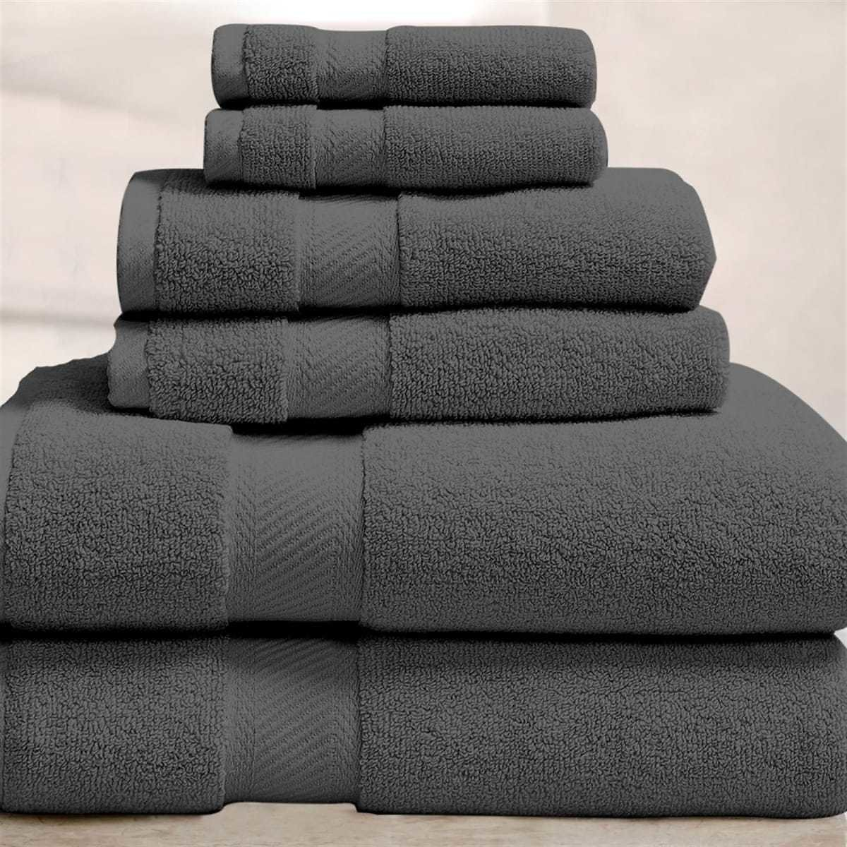100% Organic Cotton Bath Towel Set | 6-Piece