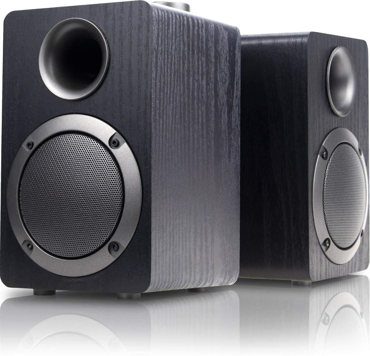 USB-Powered PC Computer Speakers; Mica PB20i with 2.0CH Surround Sound, Wooden Wired LED Volume Control Mini Speaker for Multipl