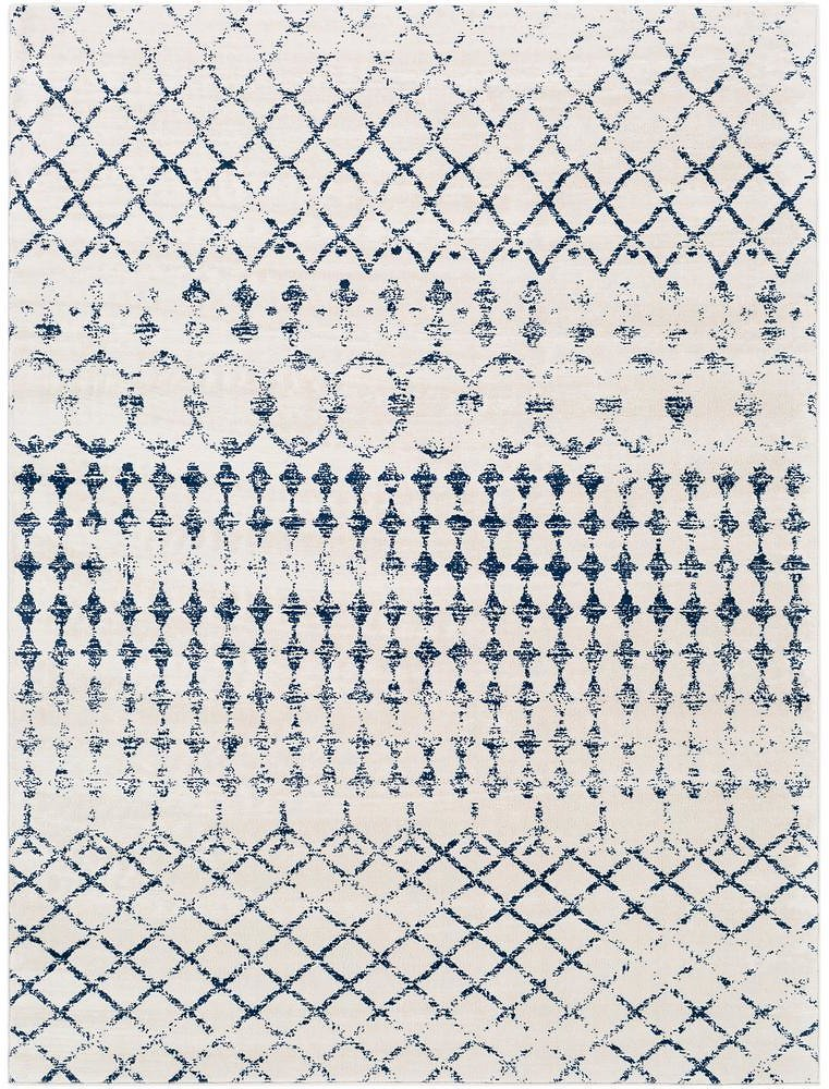 Artistic Weavers Jimena White/Navy 7 Ft. 10 In. X 10 Ft. Area Rug-S00161021733