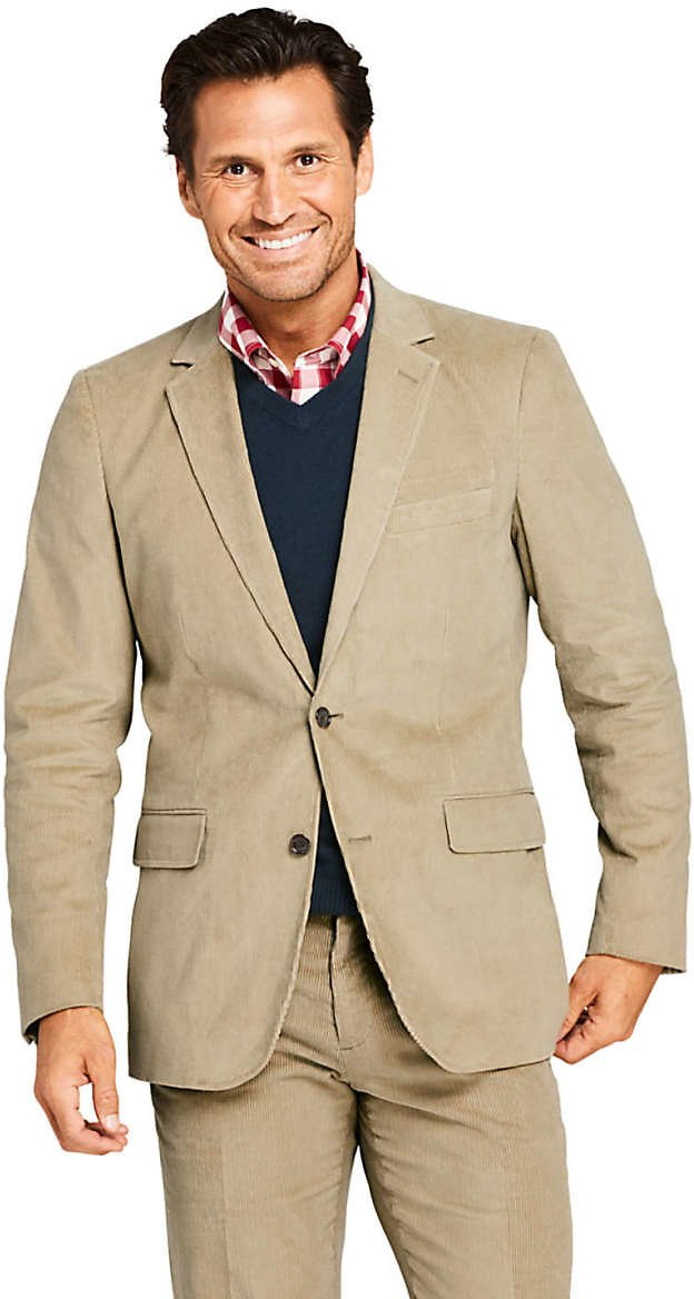 Mens Traditional Fit 10 Wale Stretch Corduroy Sport Coat